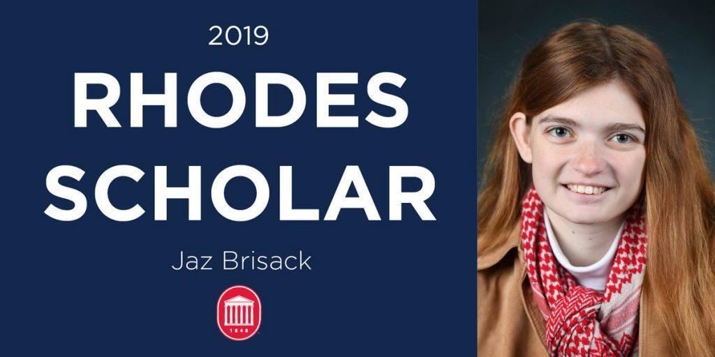 Jaz Brisack named University of Mississippi's 26th Rhodes Scholar, first female Rhodes winner