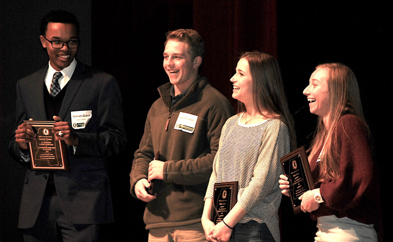 High school students attending the 72nd Mississippi Scholastic Press Association Statewide Spring Convention, hosted by UM, receive awards for their outstanding work.