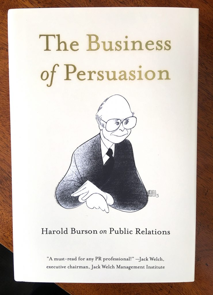 Harold Burson signed copies of his book The Business of Persuasion.