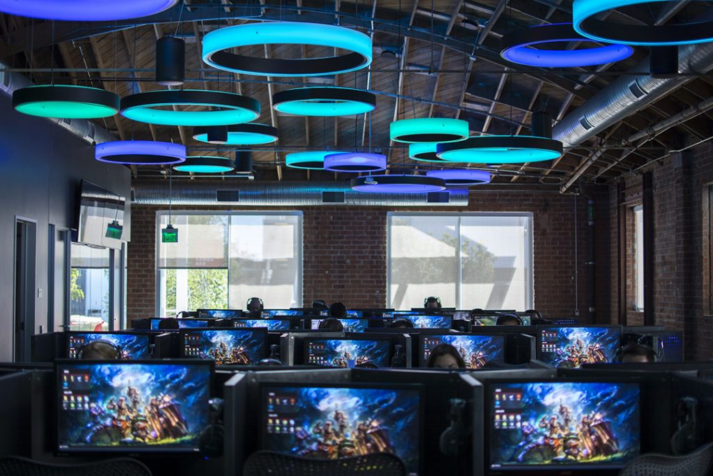 Inside the Riot Games headquarters.