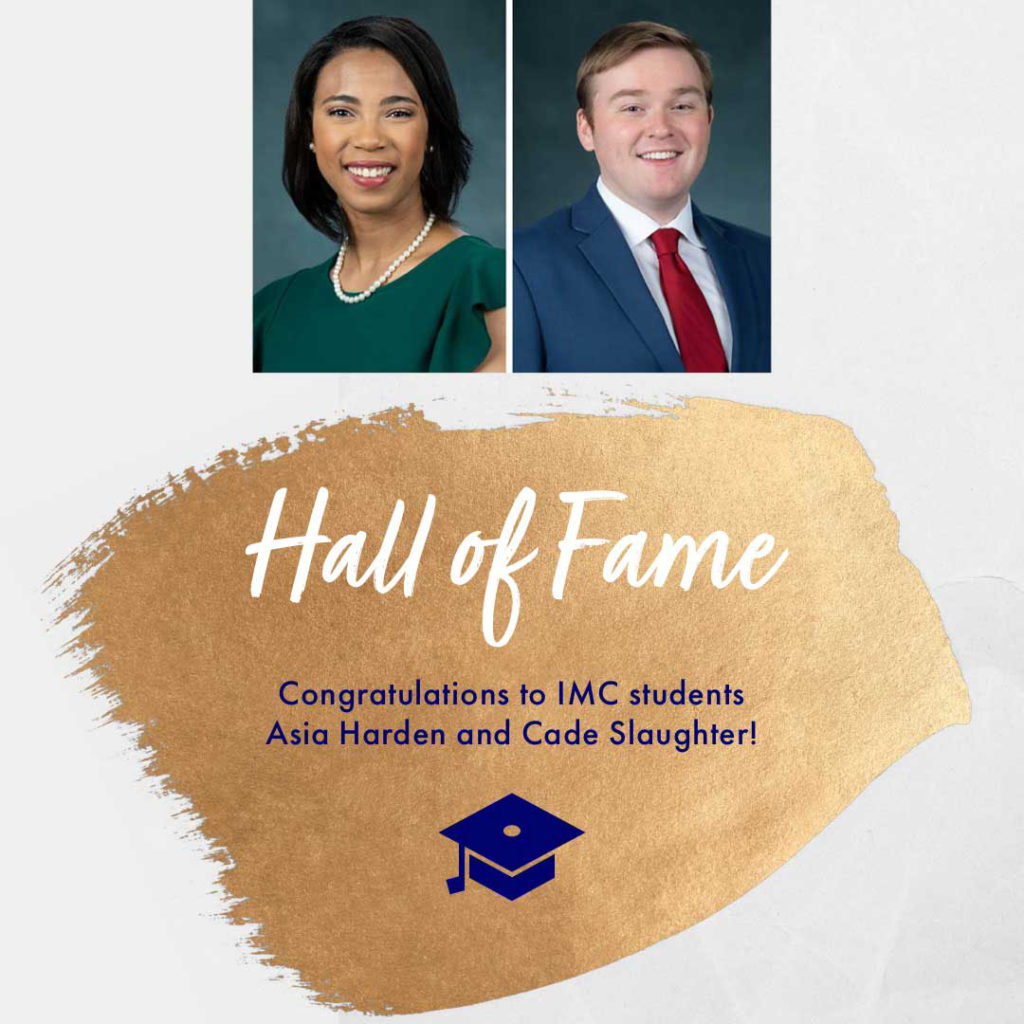 Hall of Fame inductees Asia Harden and Cade Slaughter